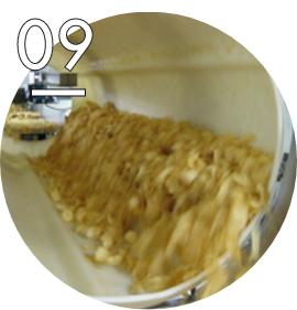 シーズニングとポテトチップスを調合
